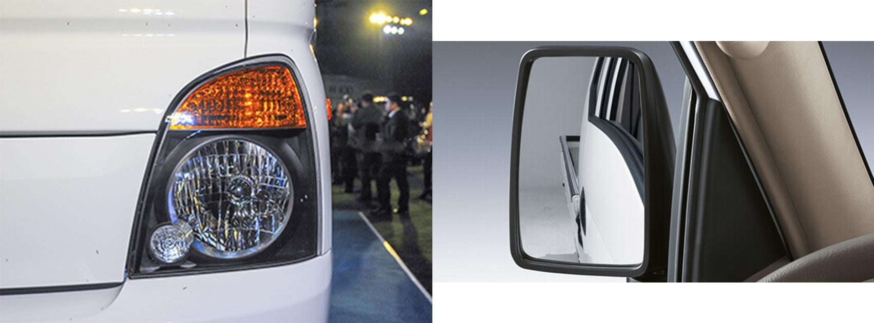 Gương chiếu hậu và đèn xe