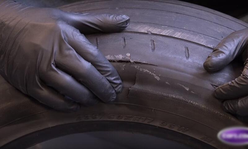 Vành lốp xe bị nứt