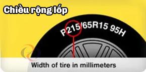 Chiều rộng của lốp xe