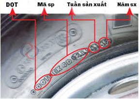 Ký hiệu DOT trên lốp xe