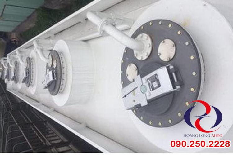 các van xả của mooc chở xăng dầu CIMC