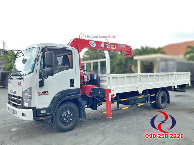 Xe tải Isuzu cẩu 3t5 Unic